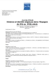 Journée d'étude, Violence et identité